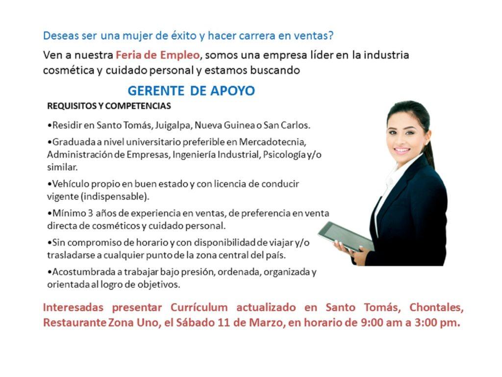 Anuncio Web Afiche Feria Empleo - Gerente de Apoyo